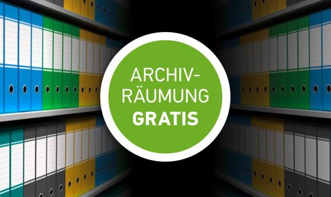 Archivräumung gratis
