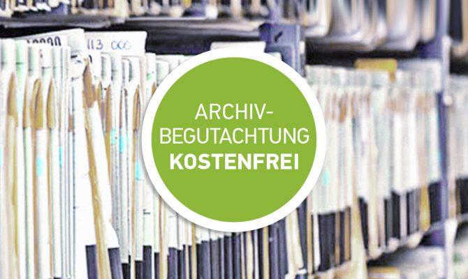 Begutachtung medizinischer Archive kostenfrei