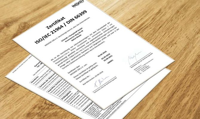 Neues Datenschutz-Zertifikat zur Röntgenbildentsorgung nach ISO/IEC 21964 und DIN 66399